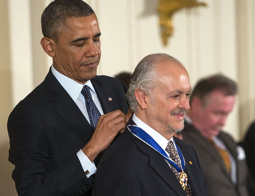 Molina received the Presidential Medal of Freedom from Barack Obama in 2013.