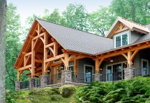 Custom Home Energy-efficient Timber Frame Mid