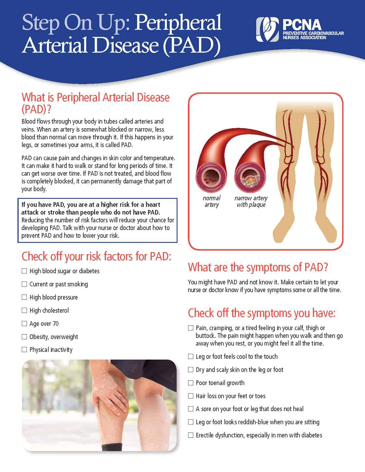 Peripheral Artery Disease Patient Education