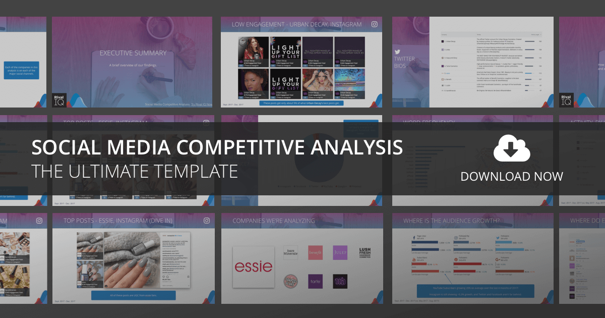 The Ultimate Social Media Competitive Analysis Template Rival IQ