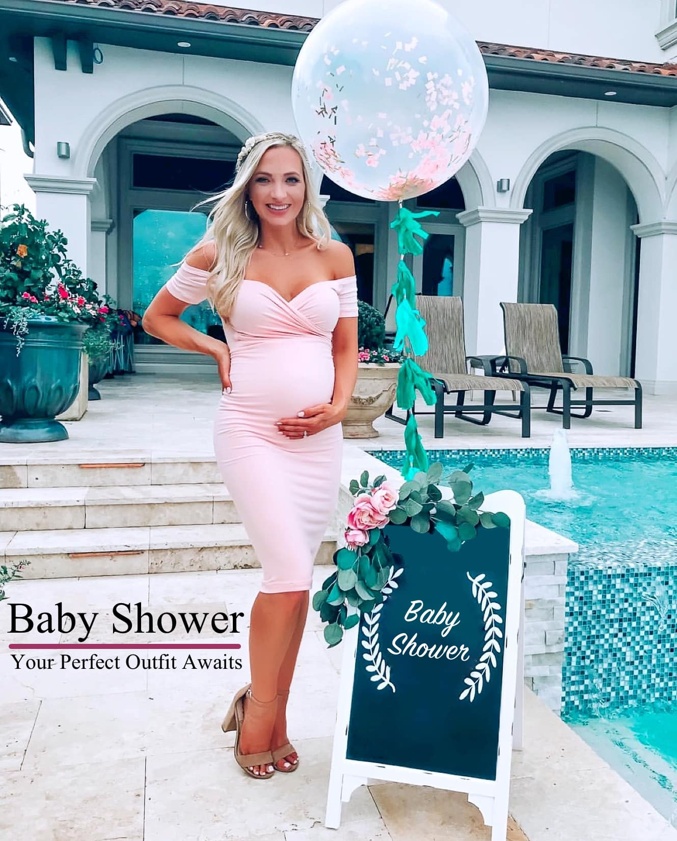Baby Shower Outfit For Mom : shower, outfit, Maternity, #coolmom, Styles, Gowns