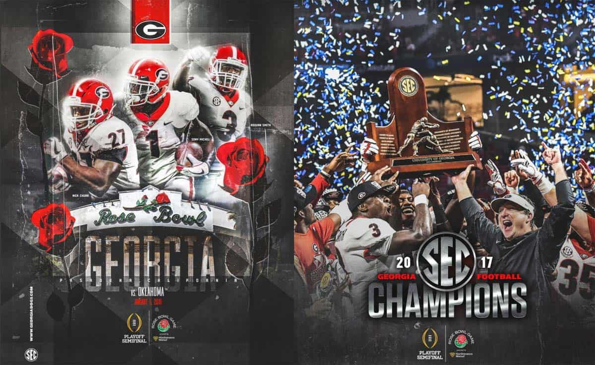 UGA Rose Bowl Game media guide available to view online