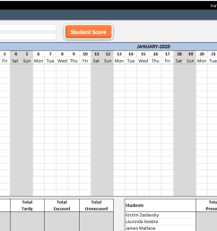 Attendance Sheet Template in Excel - Free Download [ 700 x 1364 Pixel ]