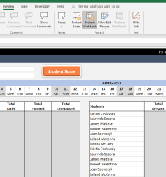 Attendance Sheet Template in Excel - Free Download [ 700 x 1365 Pixel ]