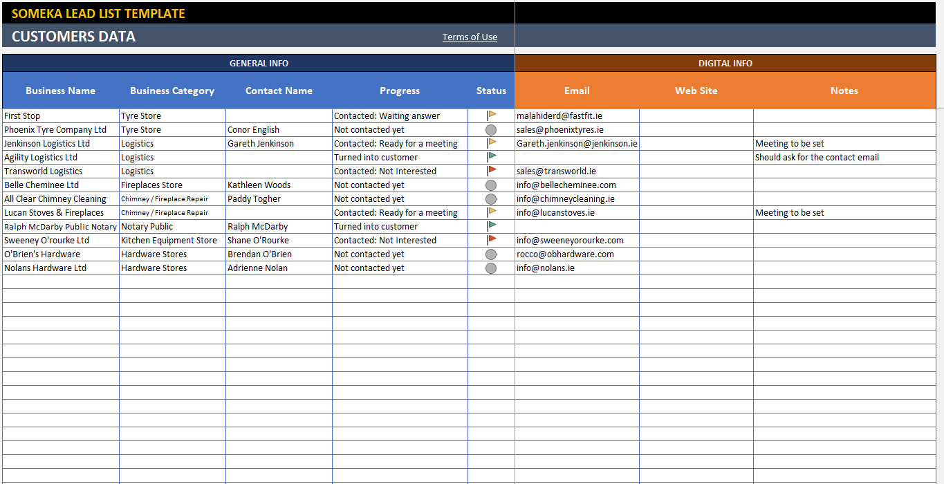 Spreadsheet | lead tracker for prospecting | customer log | sales lead planner. Lead Tracking Excel Template Free Customer Follow Up Sheet