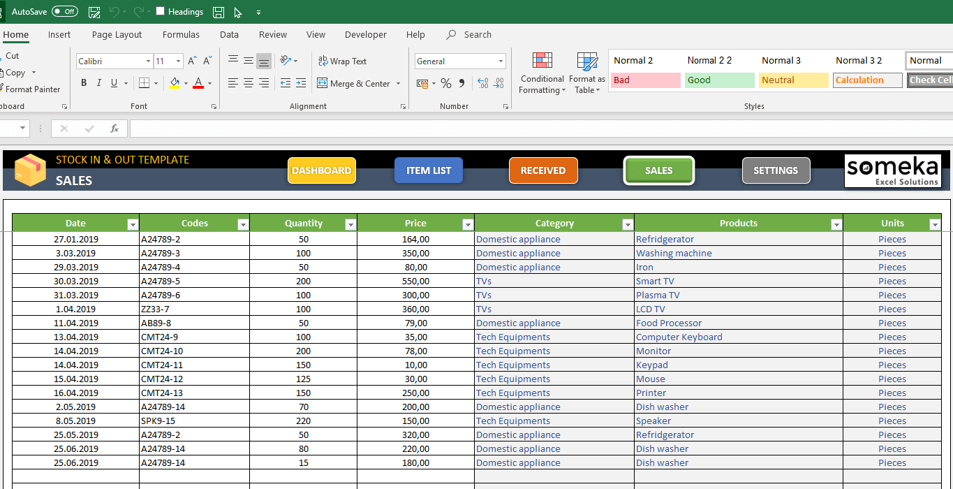 The intuit quickbooks inventory management spreadsheet is free to use and comes with some great tips on managing your inventory using excel. Stock Inventory Tracker Calculate In And Outs In Excel