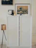 Ikea BILLY / OXBERG Bookcase with doors, white,Size ...