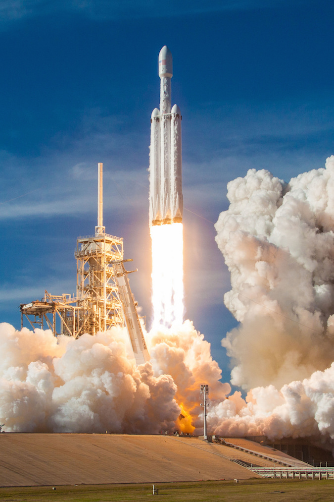 Elon Musk Car In Spac Wallpaper Photos Spacex S Imagery Of Falcon Heavy Test Flight