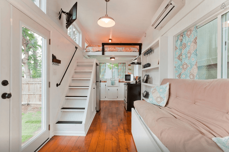 How To Have Stairs Instead Of A Ladder In Your Tiny House   Ladder Design For Small Space   Stairway   Glass   Modern   Two Story House Stair   Limited Space