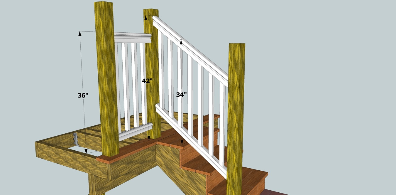 Solving Porch Problems Thisiscarpentry   Installing Deck Stair Railing   Porch   Composite Decking   Stair Treads   Baluster   Railing Kit
