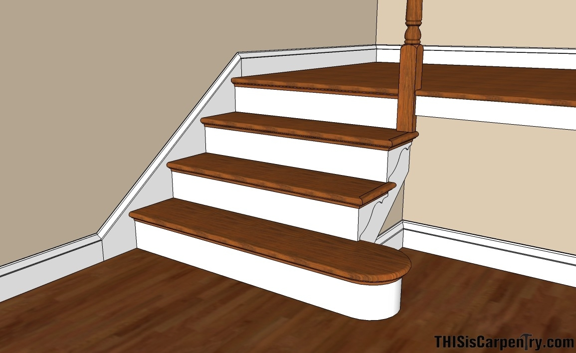 Scribing Skirt Boards Thisiscarpentry | Already Made Wooden Steps | Hardwood | Concrete Steps | Stair Case | Spiral Staircase | Handrail