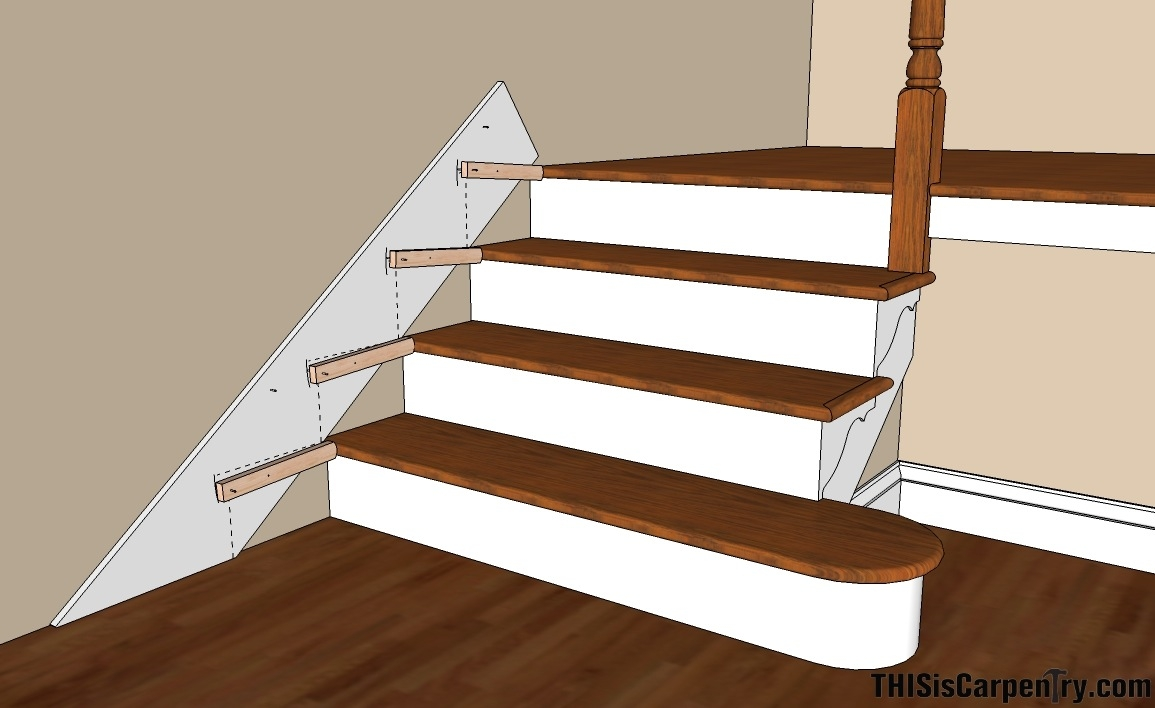 Scribing Skirt Boards Thisiscarpentry | Installing Hardwood On Stairs | Wooden | Painted Wood | Handrail | Nosing | Vinyl