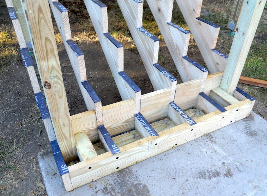 Attaching Bottom Deck Posts Thisiscarpentry | Building Deck Steps With Stringers | Landing | Stair Treads | Deck Railings | Outdoor | Pressure Treated