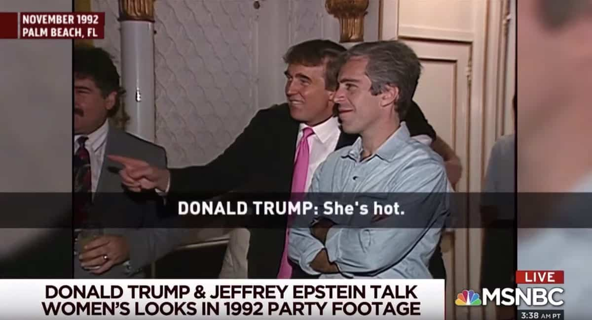 Donald Trump Jeffrey Epstein