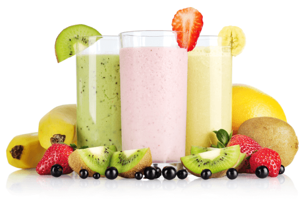 Fruit-yogurt smoothie