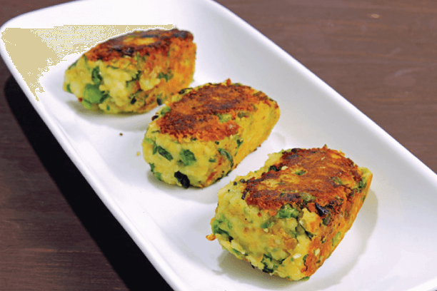 Spinach paneer cutlets
