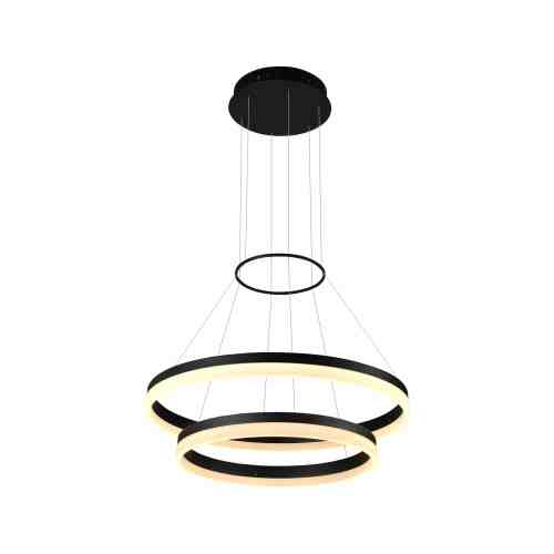 small resolution of tania duo vmc31730bl 24 led chandelier adjustable suspension fixture modern two tier circular chandelier light in black