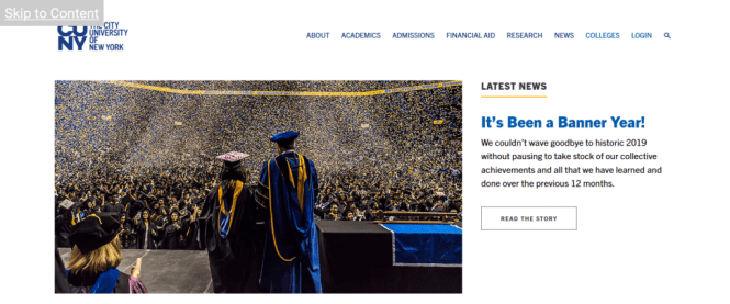 Lien vers le site Web de la City University of New York