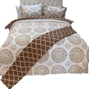 4 Piece Percale 200TC 5050 Cotton Duvet Set