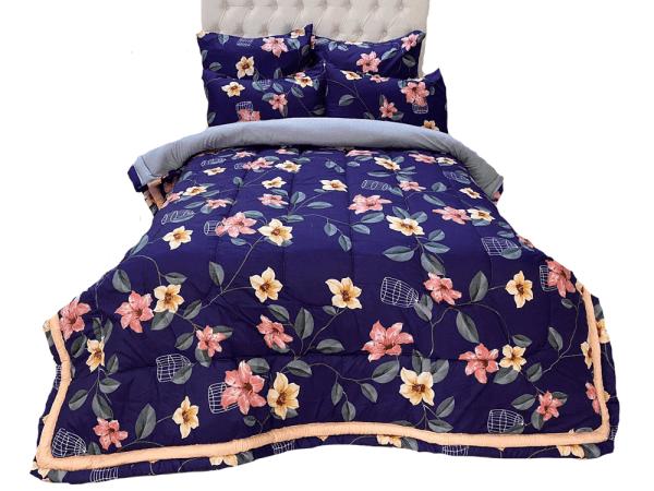 5 Piece 200GSM Microfibre Comforter Set