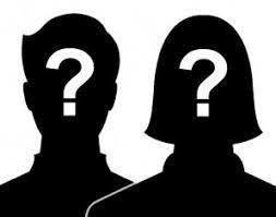 Naamloos, zwarte hoofden met vraagteken