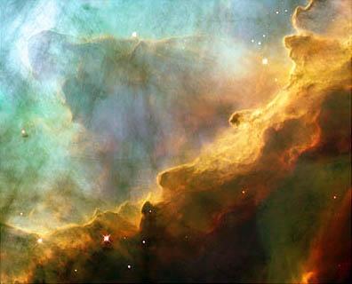 The Swan Nebula, taken by the Hubble Telescope