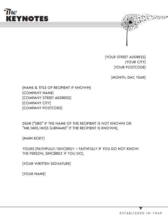 Keynotes Letterhead Redesign