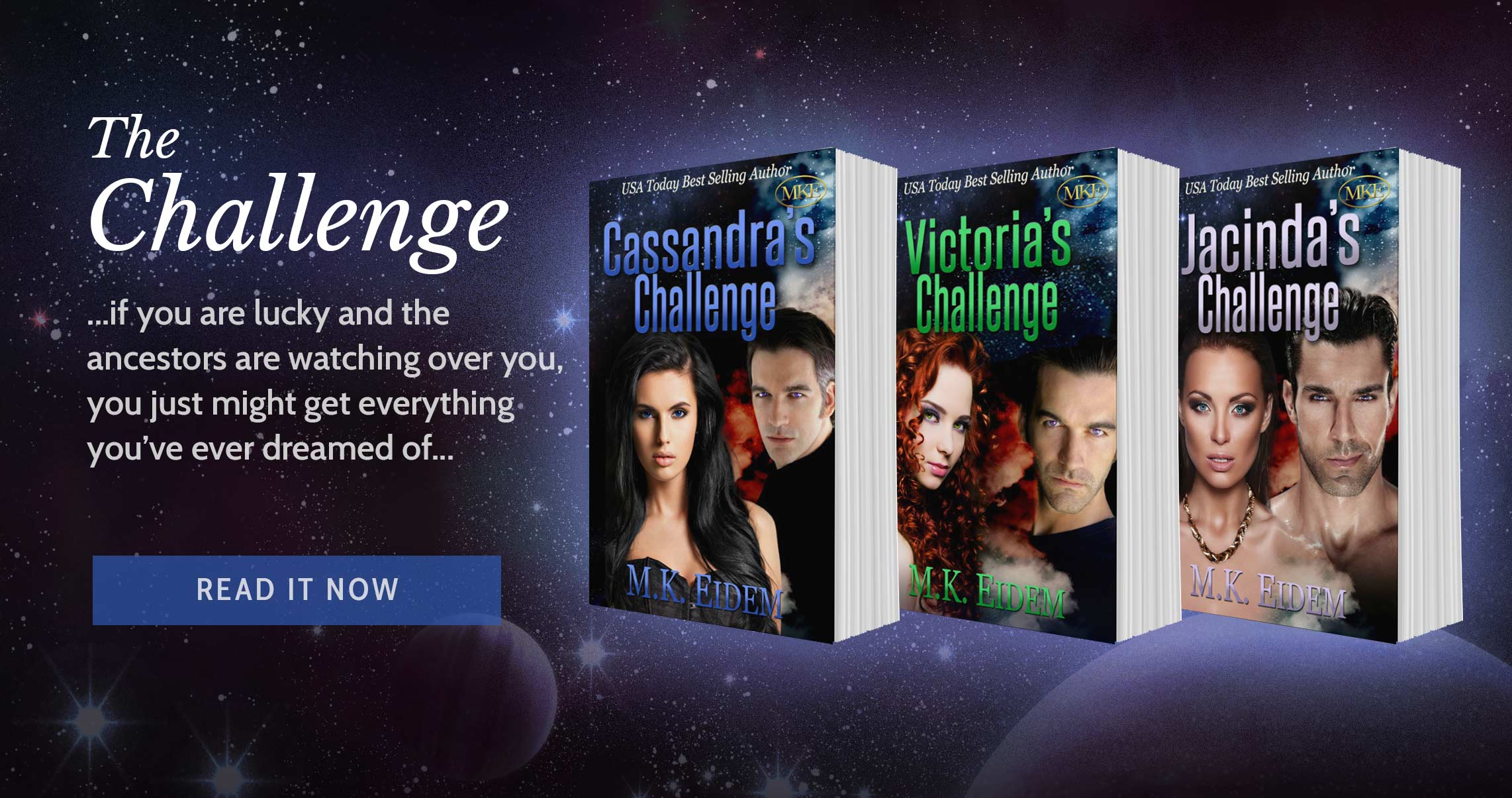 The Challenge Series by USA Today Bestselling Sci-Fi Romance Author M.K.Eidem
