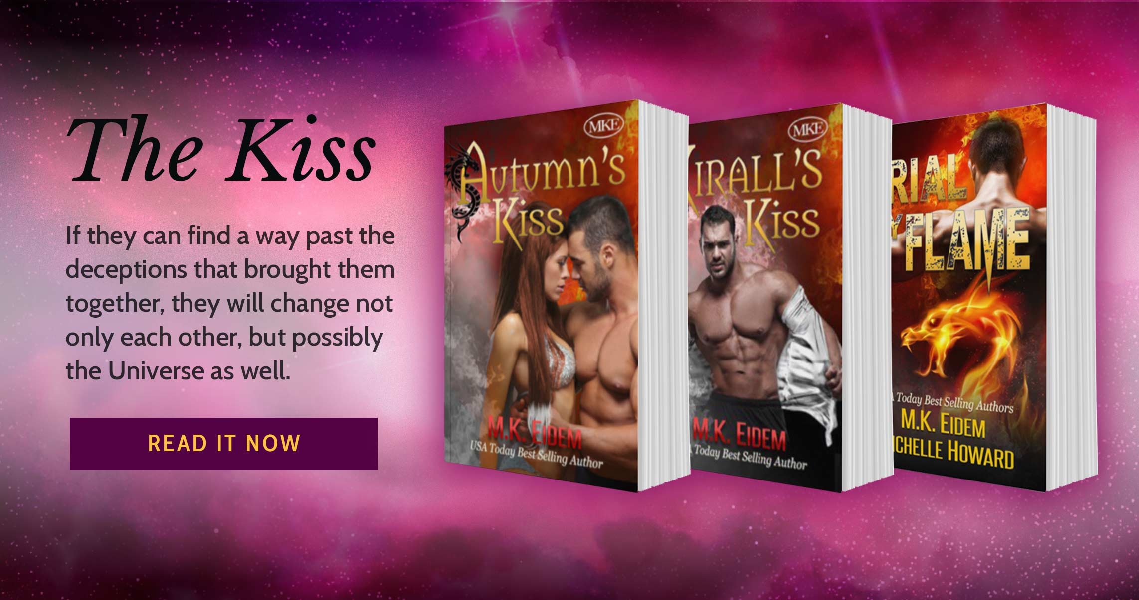 The Kiss Series by USA Today Bestselling Sci-Fi Romance Author M.K.Eidem