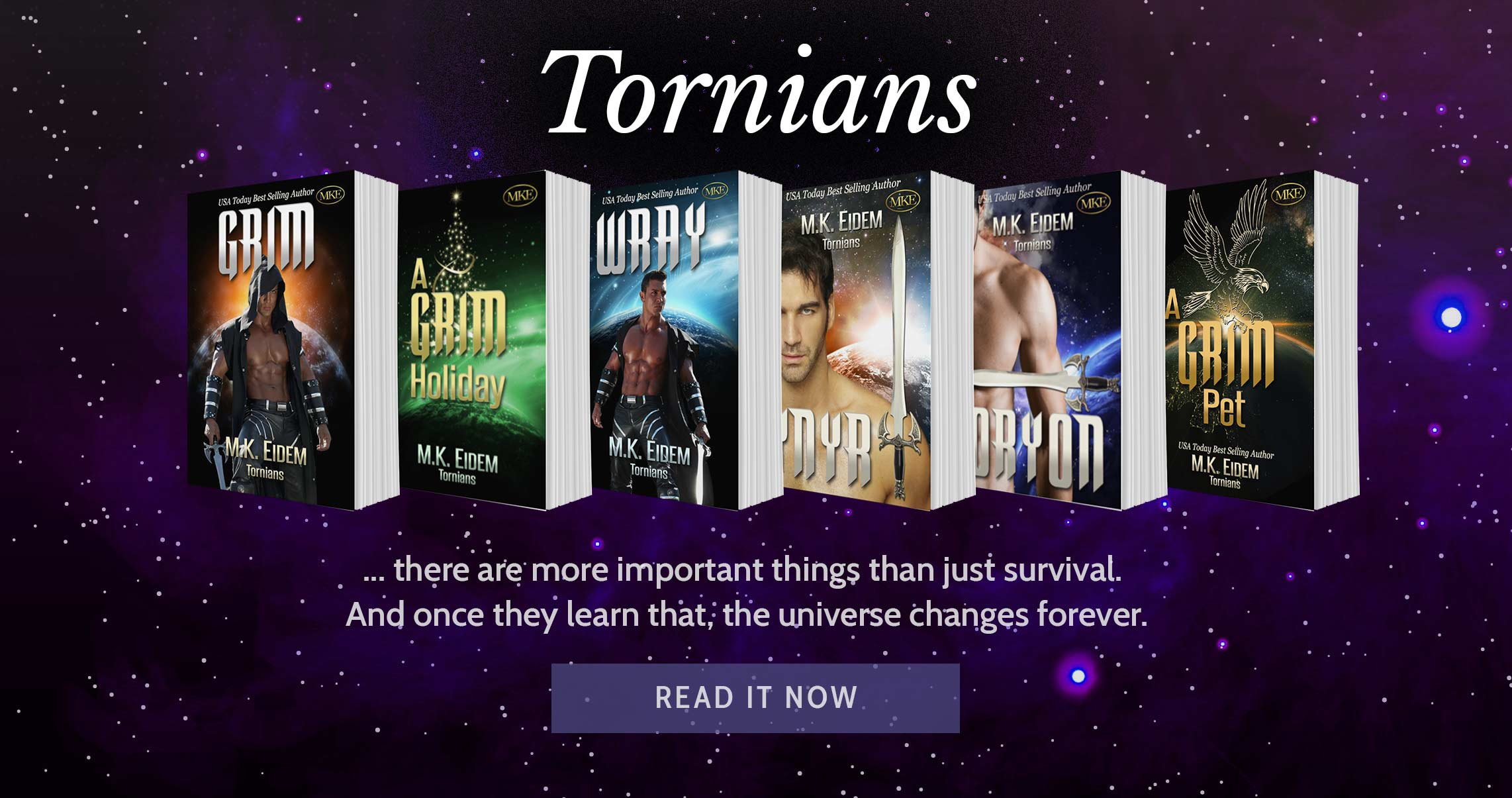 Tornians - A Sc-Fi Romance Series from USA Today Bestselling Author M.K.Eidem