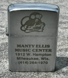 Manty Ellis Music Center lighter, photo courtesy of Rick Jones