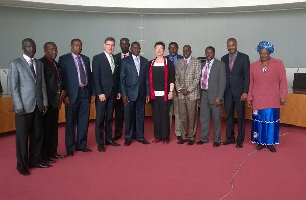 Kenyan MPs at the Bundestag