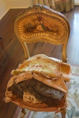 Original seat stuffed with Spanish Moss