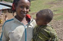 Baby Abraham successfully treated for SAM, with his Mom