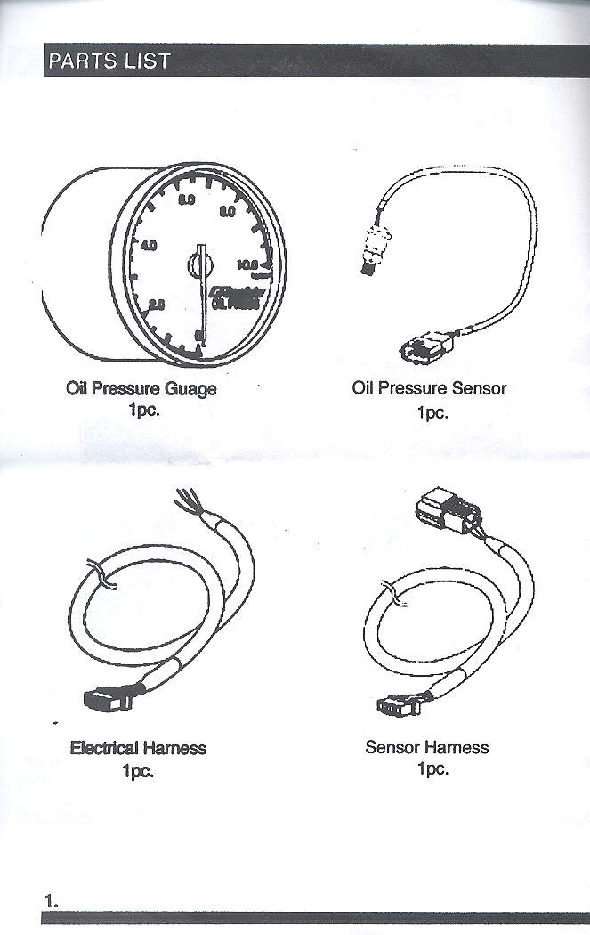 Wiring Diagram For Oil Pressure Gauge