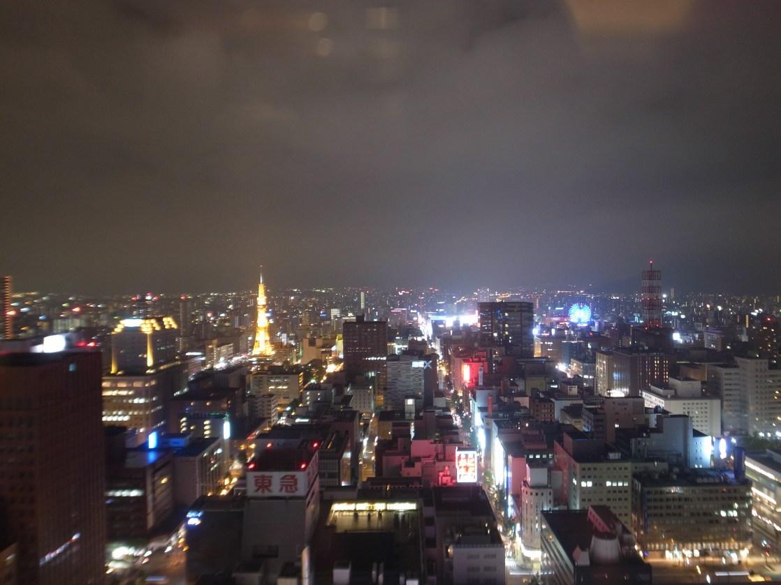 ホテルの部屋からの眺め(夜)