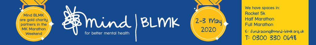 Run one of the MK Marathon Weekend events and raise money for MIND BLMK