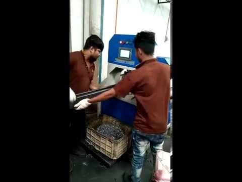 Shelf Tube Automatic Hydraulic Punching Machine Working At Customer's Fa...