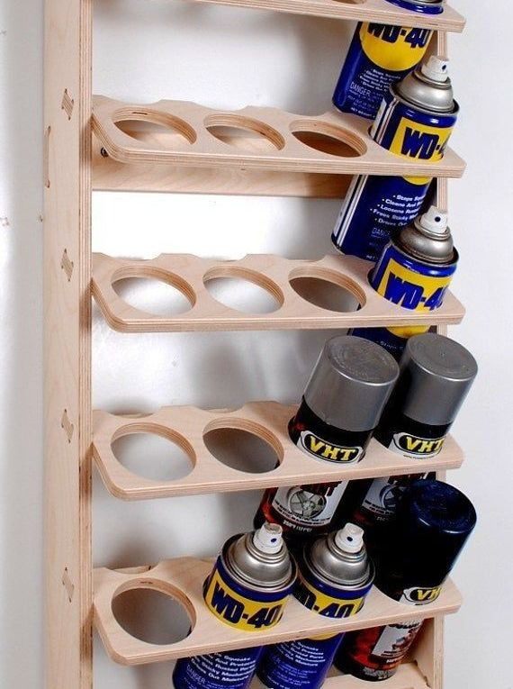 20 Can Spray Paint or Lube Can Wall Mount Storage Holder Rack
