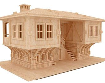 Gothic Villa Doll House Laser CNC Router Cutting Pattern DXF