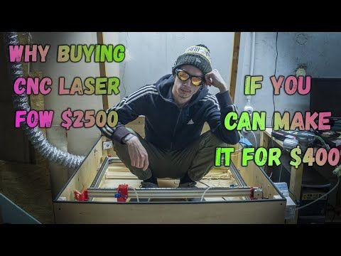 DIY 40w Co2 laser engraver/cutter CNC machine on arduino