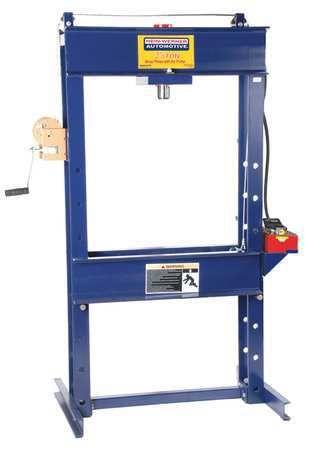 Hein-Werner Hw93301 Hydraulic Press,25 T,air Pump, 71 In