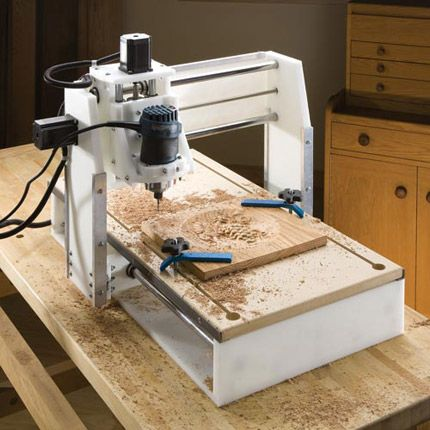 Photograph of the CNC Shark Wood Carving System