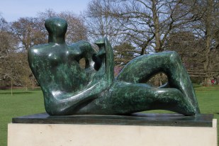 Henry Moore Sculpture - Reclining Mother and Child
