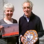 Roy Maycock presenting the Ron Arnold Shield to Anne Strutton, winner of the 2016 Photo Competition. Photo by Martin Kincaid