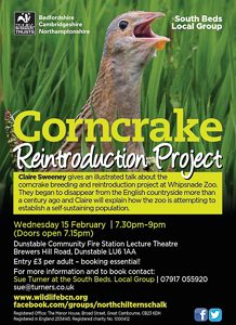 Corncrake Reintroduction Project poster