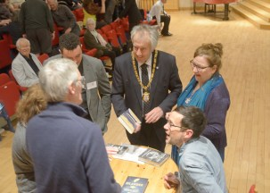 The Mayor having his book signed by Patrick Barkham