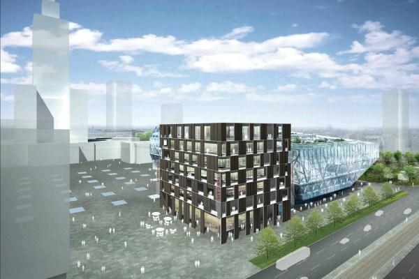Architectural Design Of Museum Modern Art In Warsaw