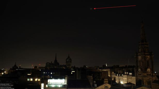 Total lunar eclipse Edinburgh