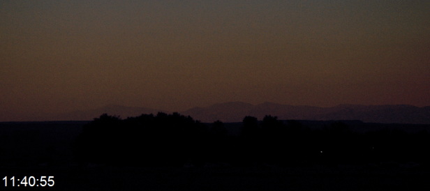 The Owl Creek Mountains being outside lunar shadow as seen from the eclipsed area